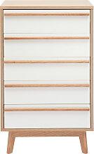 Chiffonnier/Semainier 5 tiroirs design scandinave