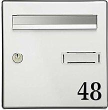 Chiffre adhésif 5 cm pour boite aux lettres -
