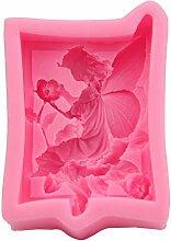 Chiic Moulle En Silicone,Fée Fleur D'ange 3D