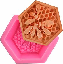 Chiic Moulle En Silicone,Nid D'abeille 3D