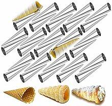 Chikanb 30 Pièces Moules Crème à Pâtisserie en