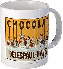 Chocolat Delespaul Havez Vintage affiche tasse en