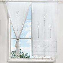 choicehot 1 paire de rideaux en coton blanc