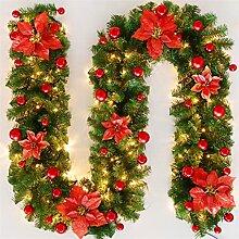 Chytaii Guirlande de Noël avec lumières LED, 2,7