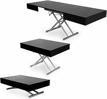 CIARA - Table basse laquée noir relevable