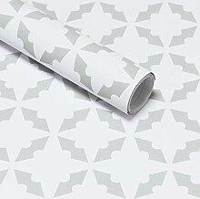 CiCiwind 45cm*3m Papier Peint Géométrique Papier