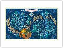 Ciel Carte du Monde - Constellations Astrologiques
