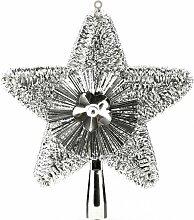 Cimier de sapin - étoile de Noël - Argenté -