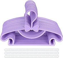 Cintres pour Enfants, Lot de 40 Violet Ceintre