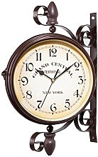 circulor Horloge De Gare Retro Double, Pendule