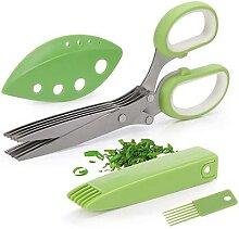 Ciseaux à herbes avec 5 lames Gadgets de cuisine
