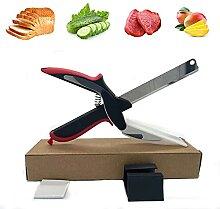 Ciseaux de cuisine multifonction 2 en 1, couteau