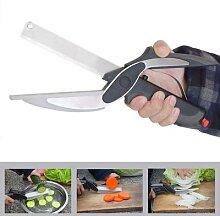 Ciseaux utilitaires 2 en 1, couteau et planche,