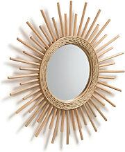 Cisla - Miroir soleil en rotin