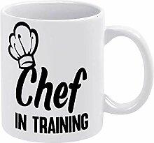 Citations tasse à café, chef en formation tasse