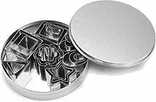 CJTMY 24 pièces/ensemble emporte- pièce en acier