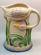 Clarice Cliff Art Déco Flamingo Opulent Cruche