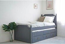 CLEMENCE - Lit gigogne 90 x 190 cm avec tiroirs en