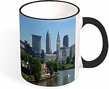 Cleveland Ohio Rolling On The River Two Tone Mug