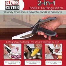 Clever Cutter 2 en 1 Couteau de cuisine & Planche