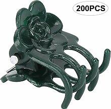 Clip de Plante, 200 Pcs Belle Rose Forme Plante