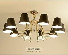 CLJ-LJ Postmodern Minimaliste Lustre Étude lampe