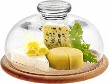 Cloche à fromage en bois et verre 25 cm