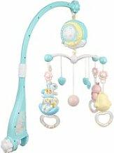 Cloche de lit, hochet bleu pour bébé 6-36 mois