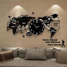 Clocks Pendule Murales Carte du Monde Horloge