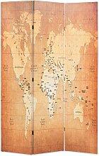 Cloison de séparation pliable 120 x 170 cm Carte