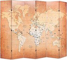 Cloison de séparation pliable 228 x 170 cm Carte