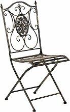 CLP - Chaise de jardin en métal Sibell bronze