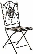 CLP Chaise De Jardin Pliable en Métal SIBELL I