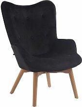 CLP - Chaise Lounge Duke en Tissu noir