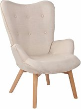 CLP - Chaise Lounge Durham en Tissu beige