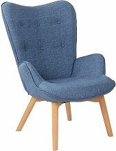 CLP - Chaise Lounge Durham en Tissu bleu