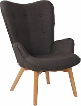 CLP - Chaise Lounge Durham en Tissu gris foncé