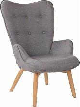 CLP - Chaise Lounge Durham en Tissu gris