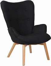 CLP - Chaise Lounge Durham en Tissu noir