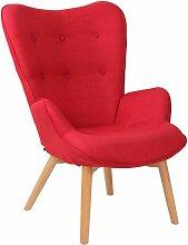 CLP - Chaise Lounge Durham en Tissu rouge