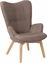 CLP - Chaise Lounge Durham en Tissu taupe