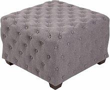 CLP - Tabouret bas cubique Nimes en Tissu gris
