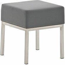 CLP - Tabouret bas Lamega similicuir gris
