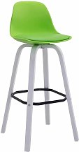 CLP - Tabouret de bar Avika plastique blanc vert