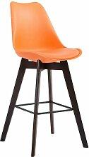 CLP - Tabouret de bar Metz plastique orange