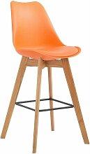 CLP - Tabouret de bar Metz plastique orange Nature