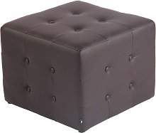 CLP - Tabouret pouf Cubic 44 x 44 cm similicuir