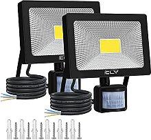 CLY 2 Pack Projecteur LED Avec Détecteur