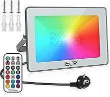 CLY RGB Projecteur LED Exterieur 25W, RGB Spot LED