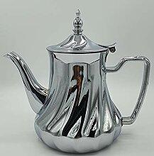 CM Théière à thé marocaine fabriquée en acier